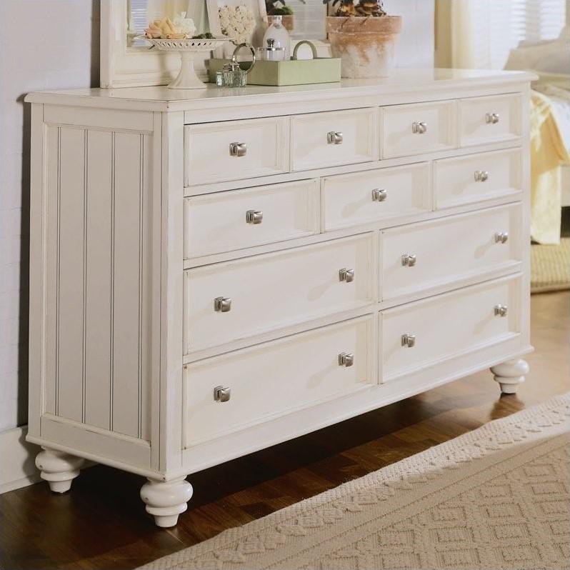 American Drew Camden 9 Drawer Double Dresser In Buttermilk