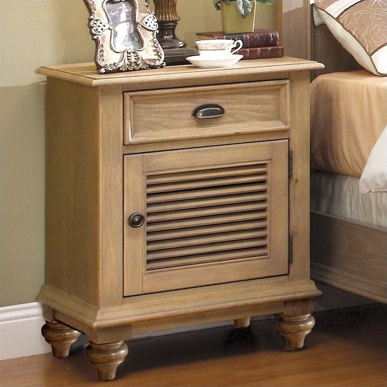Riverside Furniture Coventry Shutter Door Nightstand In Driftwood 32469