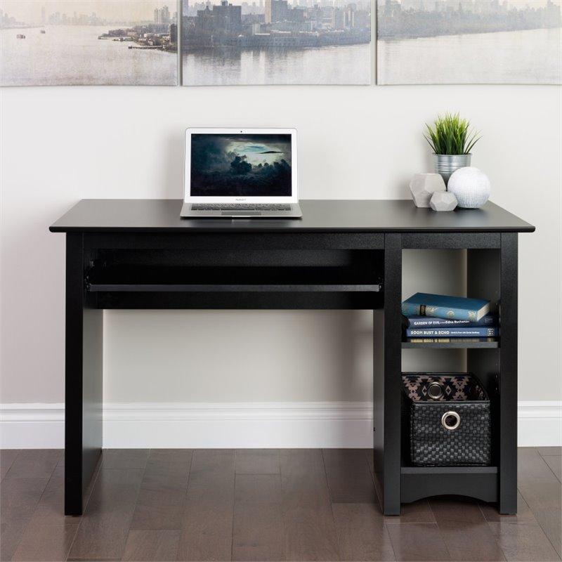 Small Wood Laminate Computer Desk In Black BDD 2948