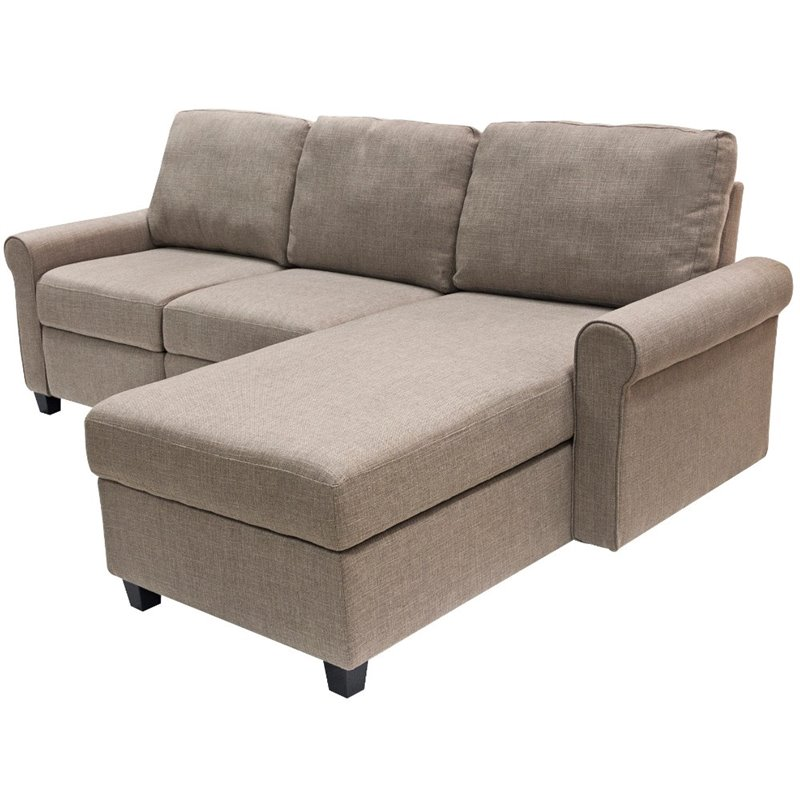 serta at home copenhagen right facing reclining sectional in oatmeal
