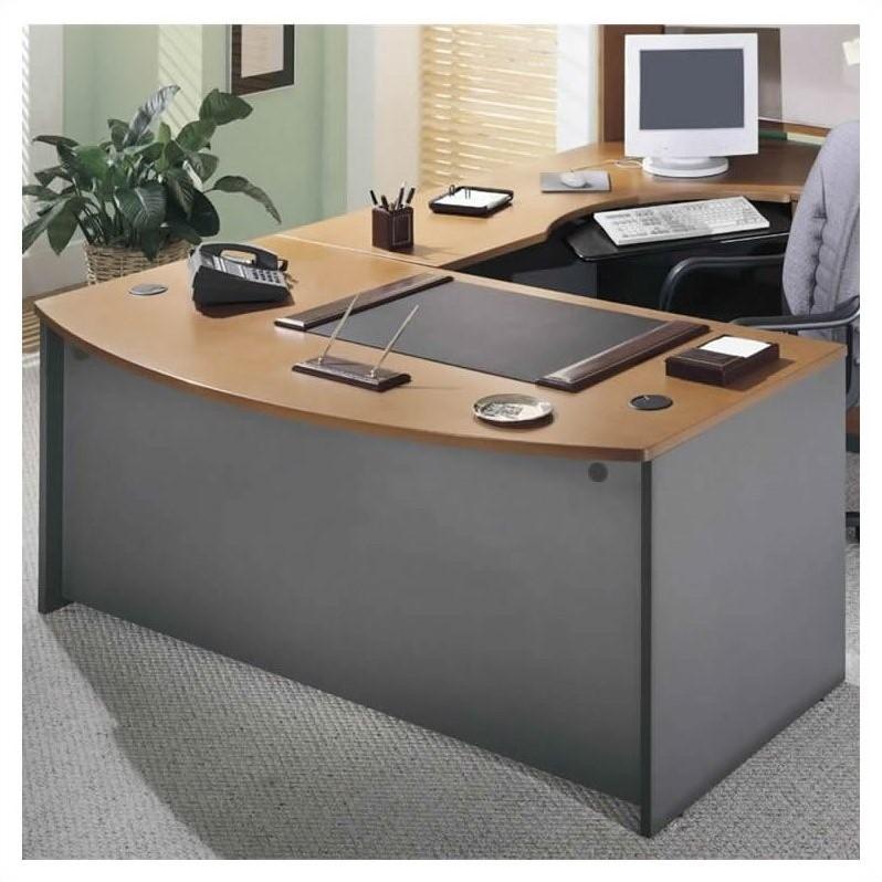 Bush Business Series C 3 Piece L Shape Bow Front Desk
