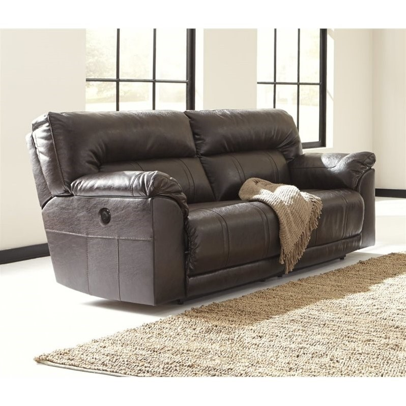 Ashley Power Reclining Leather Sofa
