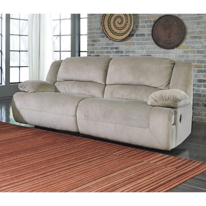 Ashley Furniture Toletta Fabric Reclining Sofa In Granite 5670381