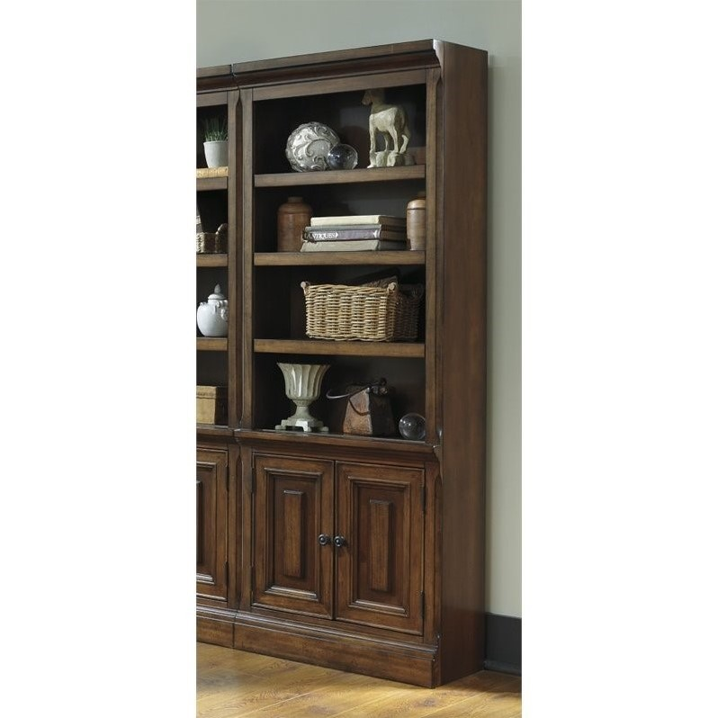 Ashley Gaylon Large 4 Shelf Bookcase With Doors In
