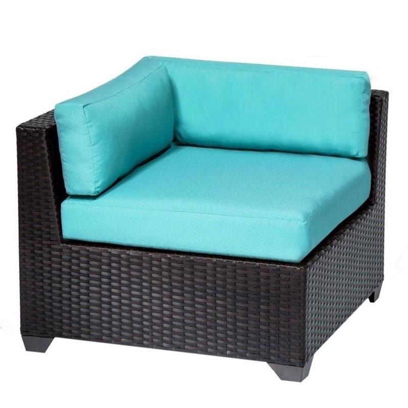 tkc belle outdoor wicker corner chair in aruba