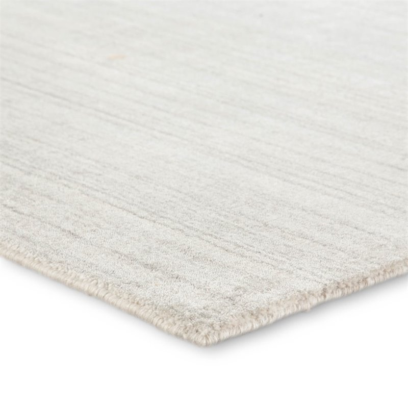 jaipur living lefka 8 x 10 solids wool area rug in ivory and light gray