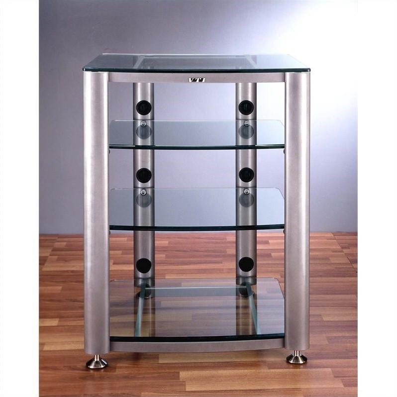 4 Shelf Glass Audio CabinetRack HGR404X