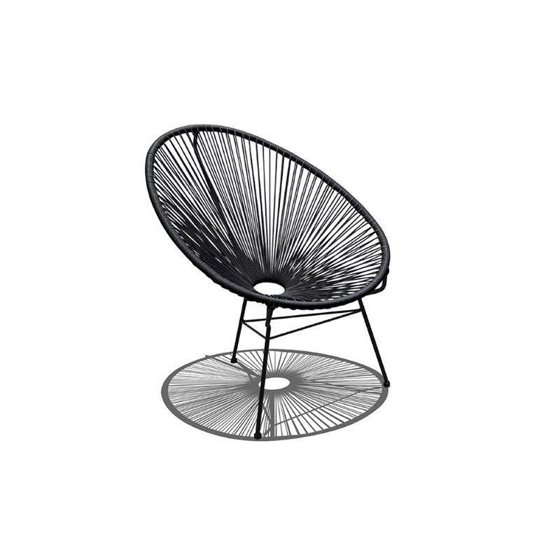 harmonia living acapulco mid century patio chair in jet black