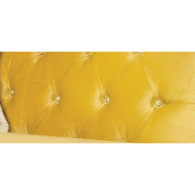 Furniture Of America Dupre Tufted Velvet Chaise Lounge In