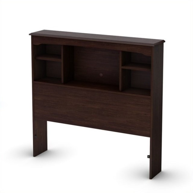 Nathan Twin Bookcase Headboard in Havana Finish by South Shore