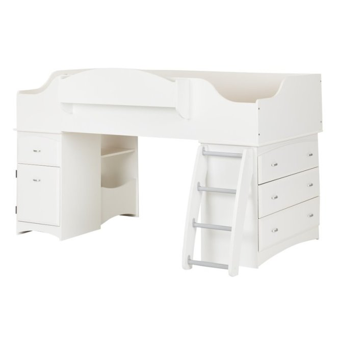 South S Imagine Twin Loft Bed In Pure White
