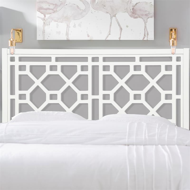 thomas chippendale white wood headboard queen full