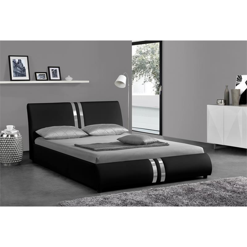 kingway furniture gracewood platform california king bed in black