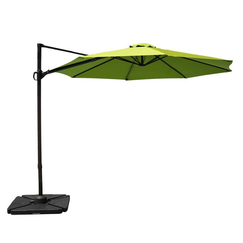 10ft cantilever offset patio umbrella aluminum pole umbrella lime green