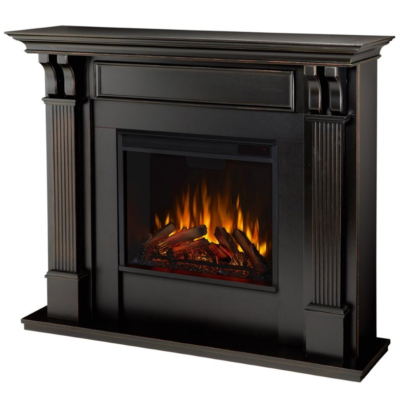 Real Flame Ashley Electric Fireplace In Blackwash Finish 7100E BW