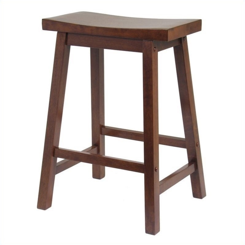 24 Quot Counter Saddle Stool In Antique Walnut 94084