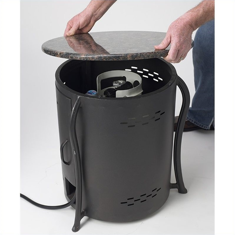 Outdoor GreatRoom Company Table Amp LP Tank Cover With