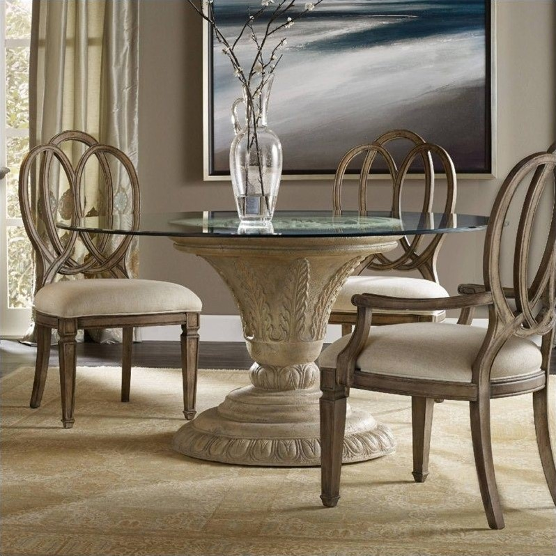 Hooker Furniture Solana Round 60 Glass Top Dining Table
