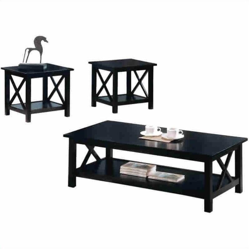 coaster briarcliff 3 piece coffee table set in dark merlot