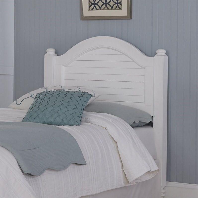 Wood Shutter Twin Headboard In White 5543 401