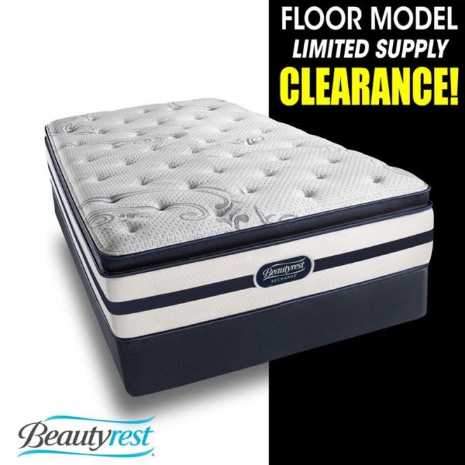 Clearance Angora Plush Pillow Top Mattress Set
