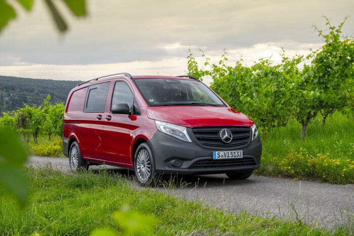 the new mercedes benz vito with added