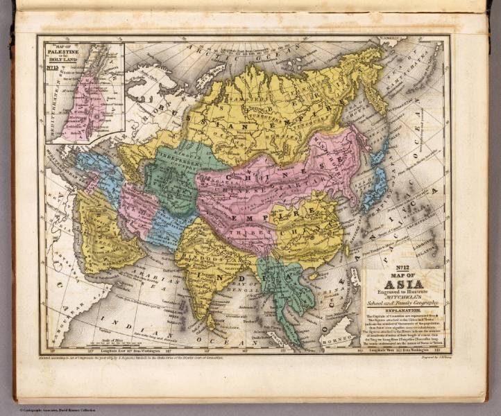 Map of Asia    David Rumsey Historical Map Collection Map of Asia