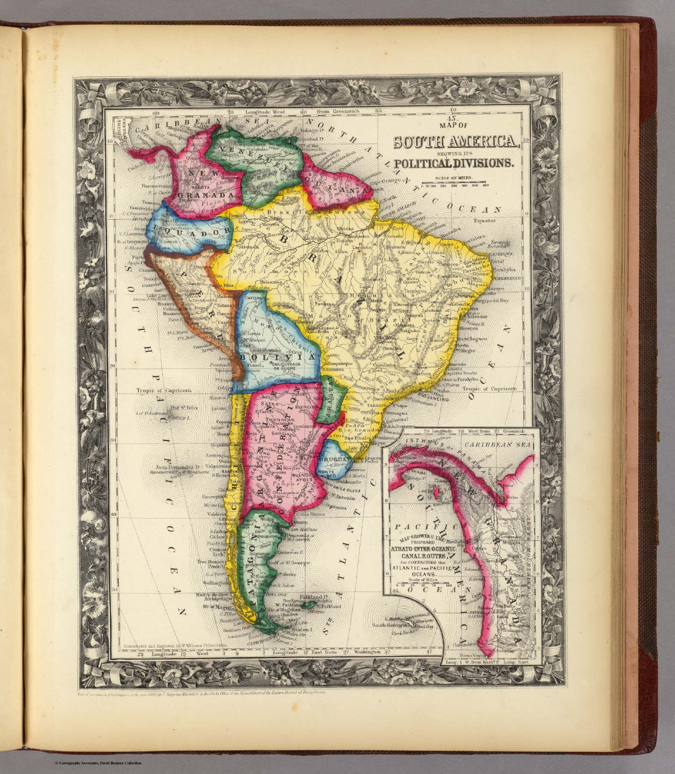 Map of South America    Mitchell  Samuel Augustus   1860