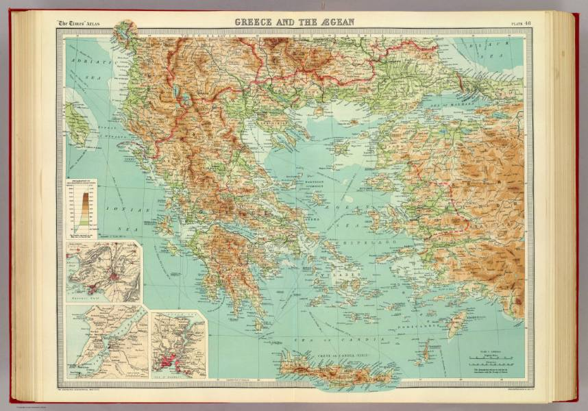 Greece and the Aegean    David Rumsey Historical Map Collection Greece and the Aegean