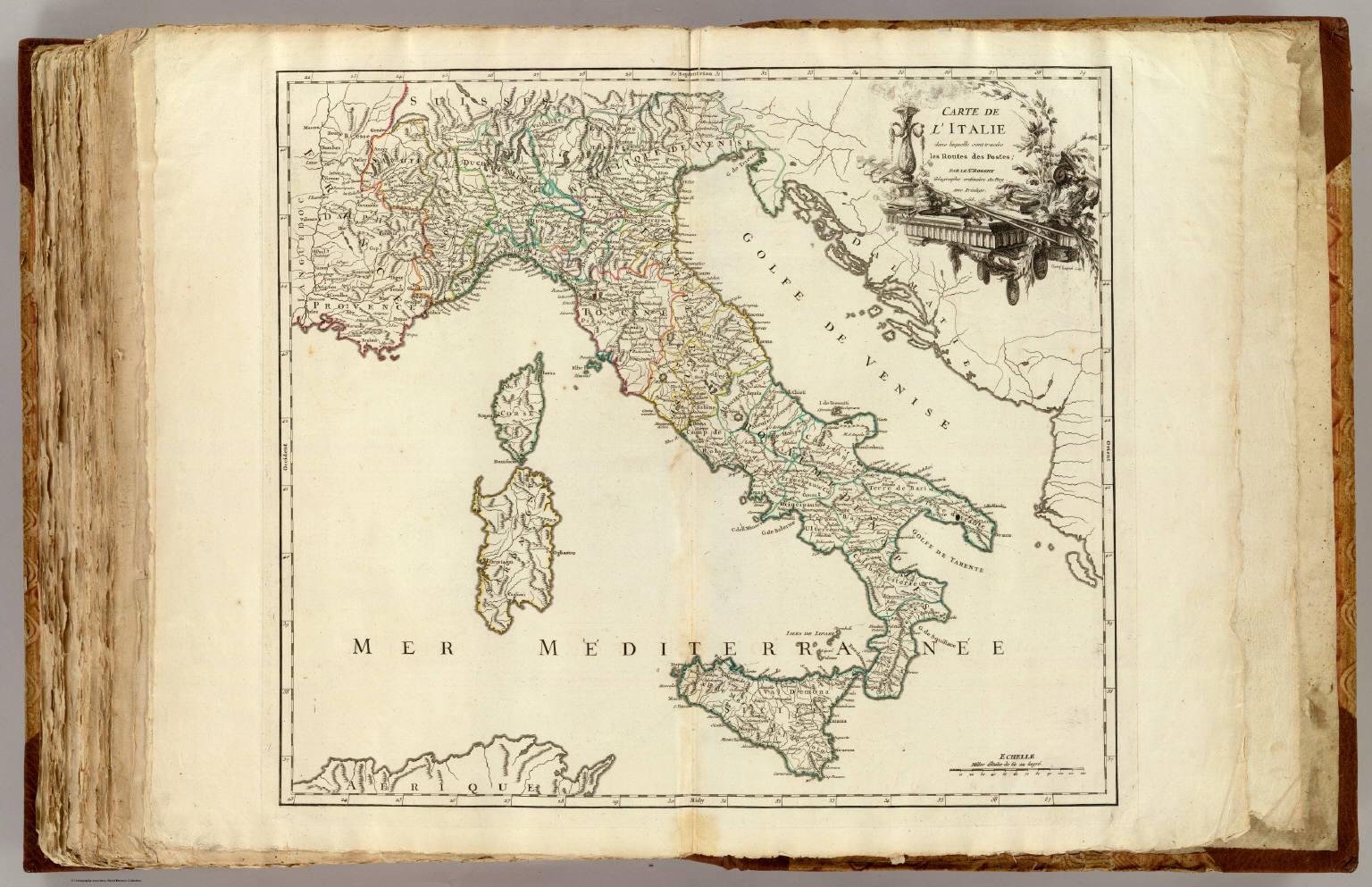 italie postes david rumsey