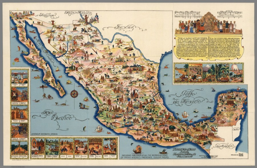 Pictorial Map of Mexico  Published by Fischgrund Publishing Co     Pictorial Map of Mexico  Published by Fischgrund Publishing Co
