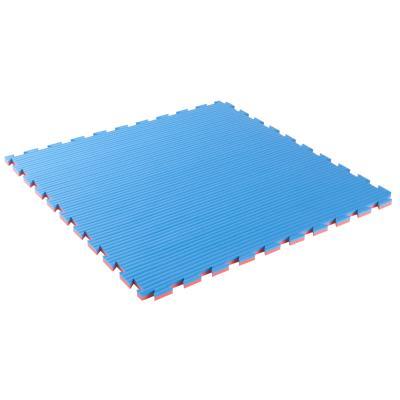 tapis de sol pour karate 22 mm epaisseur bleu rouge