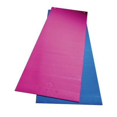 tapis de sol gym antiderapant avec oeillets rose