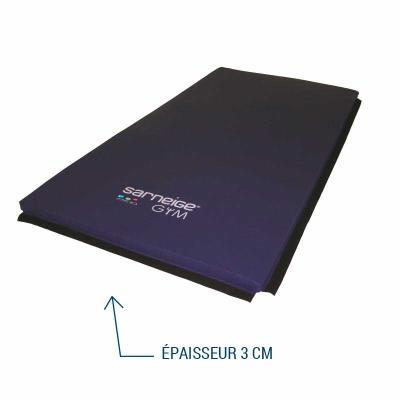 tapis de gym epaisseur 3 cm housse evolution