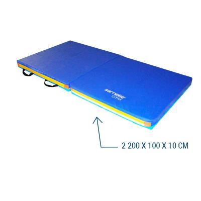 matelas de gymnastique reception pliable en 2 200x100x10 cm