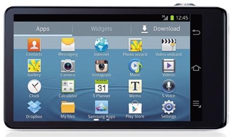 Com acesso à Google Play Store, a Samsung Galaxy Camera apresenta várias aplicações.