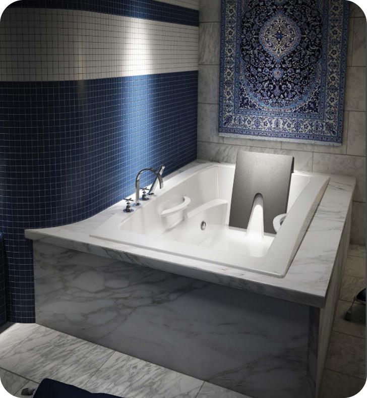 BainUltra BINLRD00 Inua 6636 66 X 36 Drop In Customizable Bath Tub