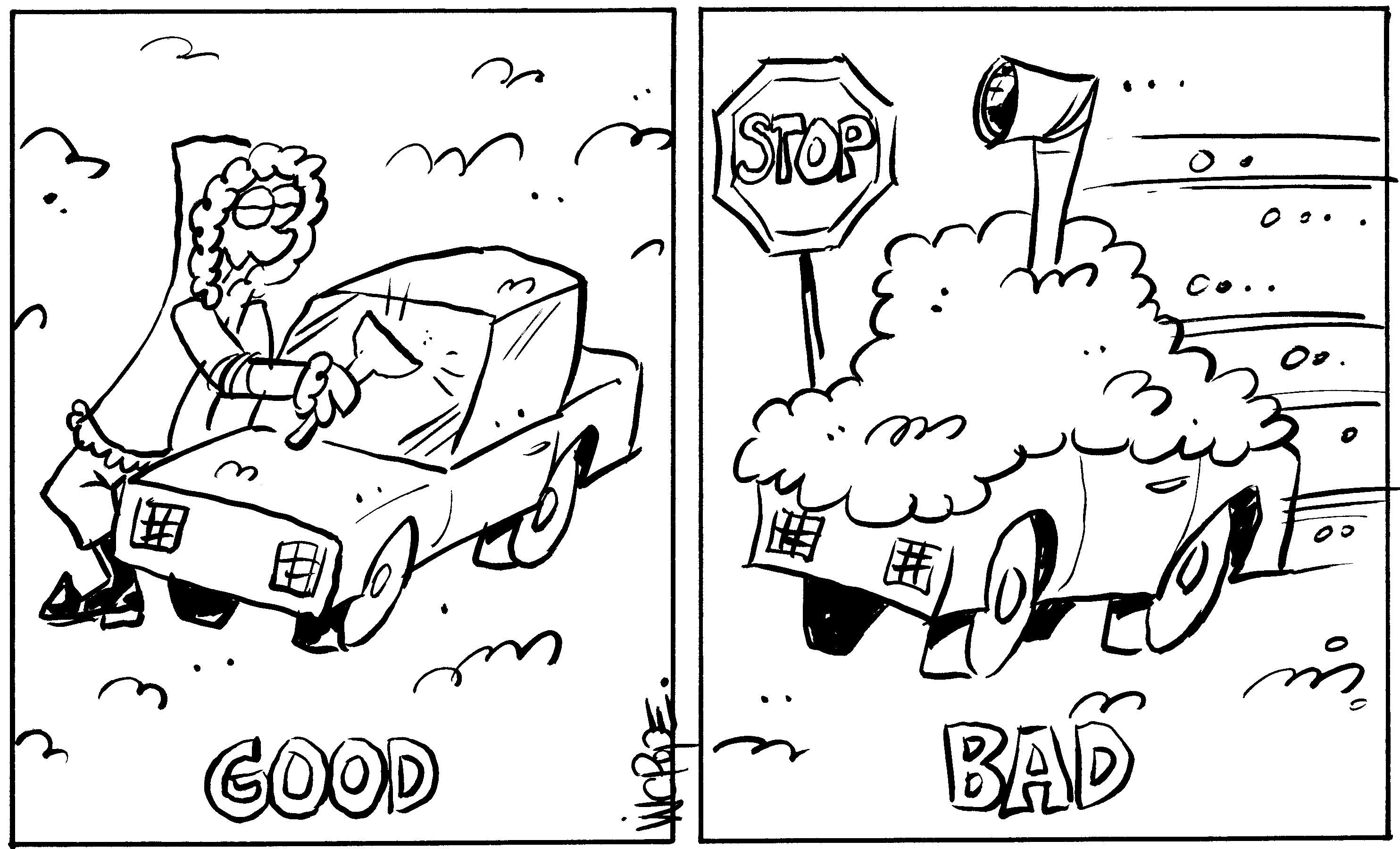 Winter Safety Cartoon
