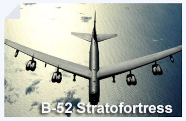 The B-52 Stratofortress is a long-range, heavy bomber that can perform a variety of missions. The bomber is capable of flying at high subsonic speeds at altitudes up to 50,000 feet. (U.S. Air Force photo/Master Sgt. Kevin Gruenwald)