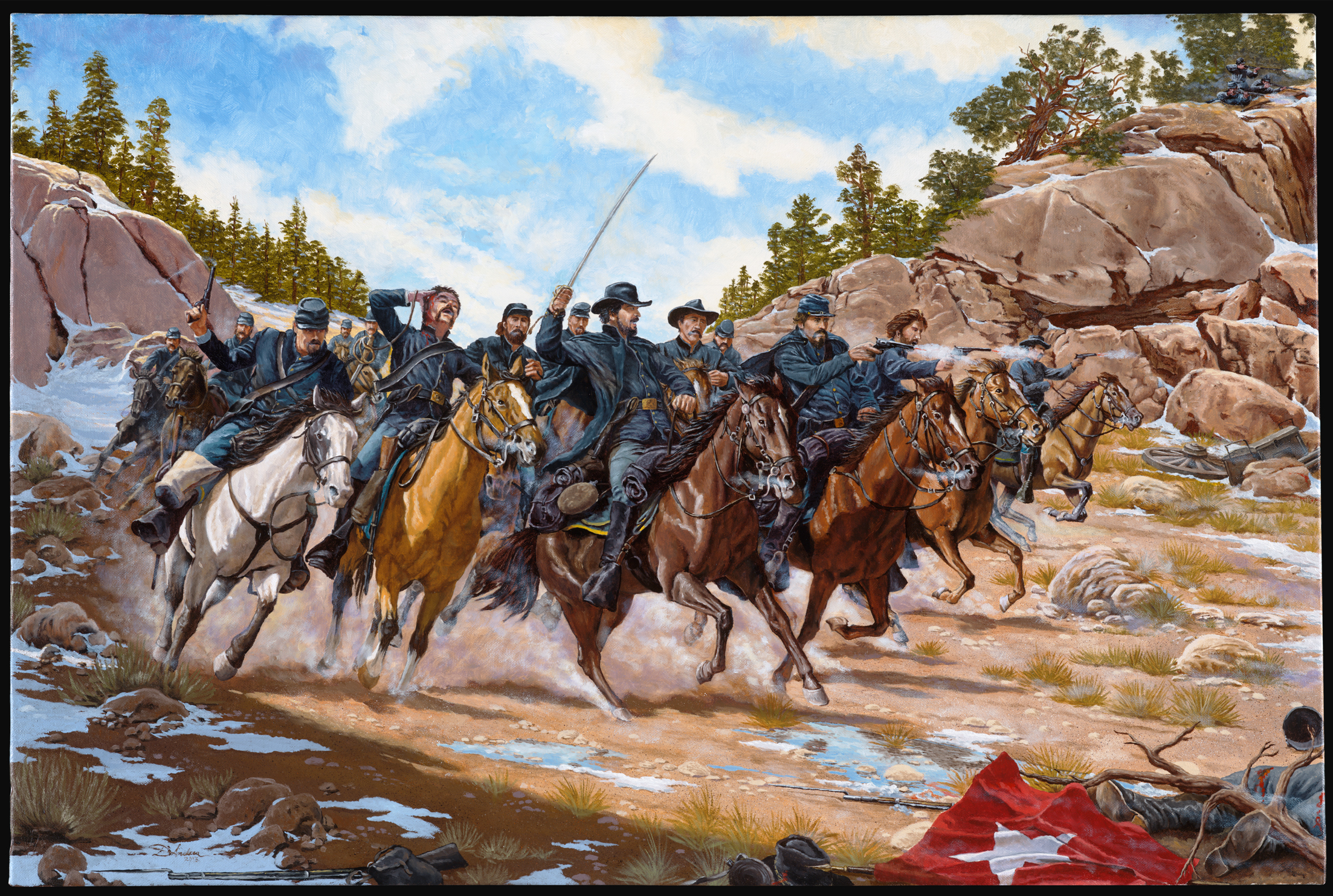 Painting Honors Overlooked Civil War Battle Gt 140th Wing