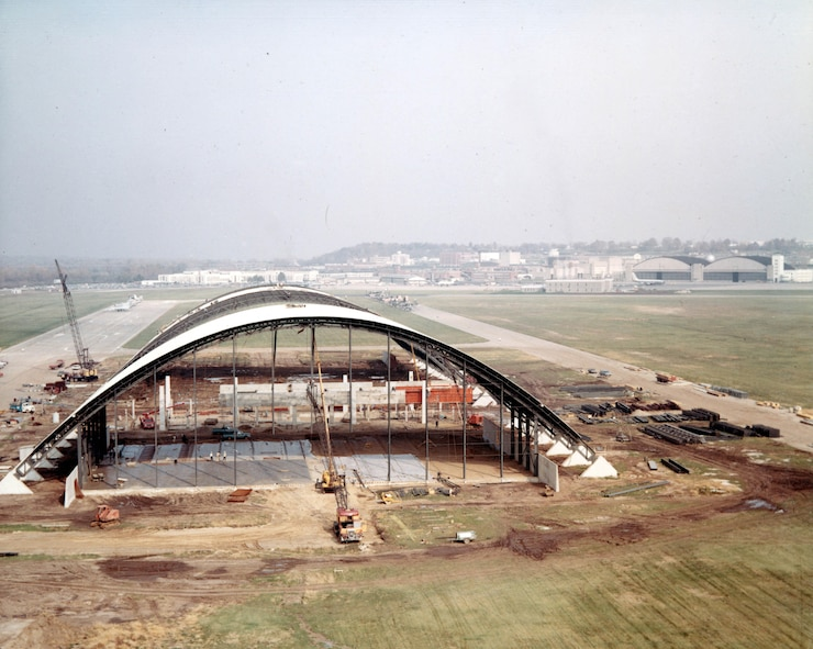 DAYTON, Ohio -- Photograph of the Air Force Museum in 1970 during construction of building one. The museum was redesignated as the National Museum of the United States Air Force in 2004. (U.S. Air Force photo)