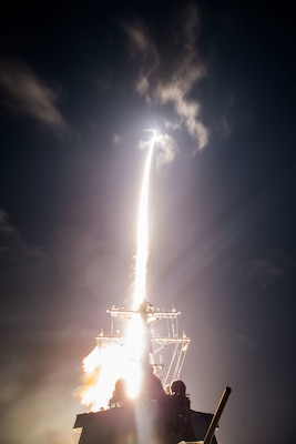 The U.S. Missile Defense Agency, the Japanese Defense Ministry of Defense and U.S. Navy sailors aboard the guided missile destroyer USS John Paul Jones conduct a successful flight test off the west coast of Hawaii, resulting in the first intercept of a ballistic missile target using the Standard Missile-3 Block IIA, Feb. 3, 2017. DoD photo by Leah Garton