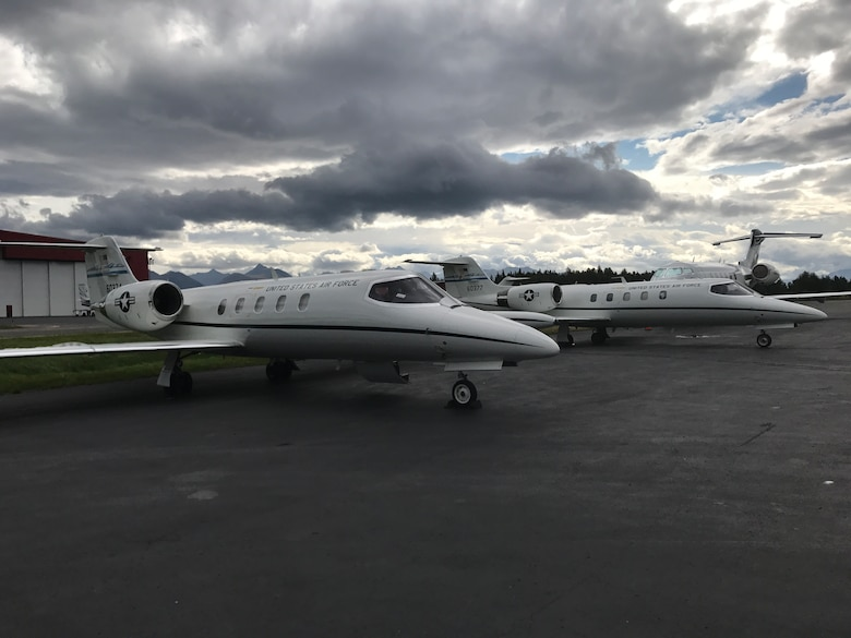 2 C-21s on ramp in Alaska