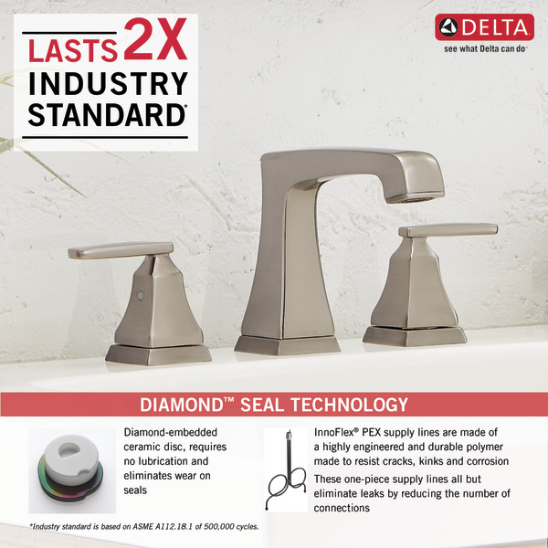 delta faucet ashlyn 2 handle widespread bathroom faucet with diamond seal technology and metal drain assembly chrome 3564 mpu dst bathroom sink faucets mishavig industrial scientific