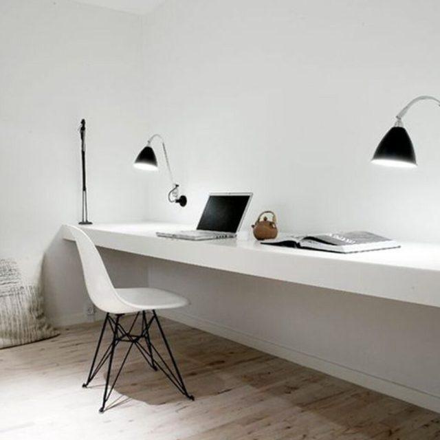 Rahatlatıcı bir çalışma hissi için küçük ve basit çalışma odası tasarımı