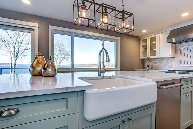 different types of kitchen sink designs