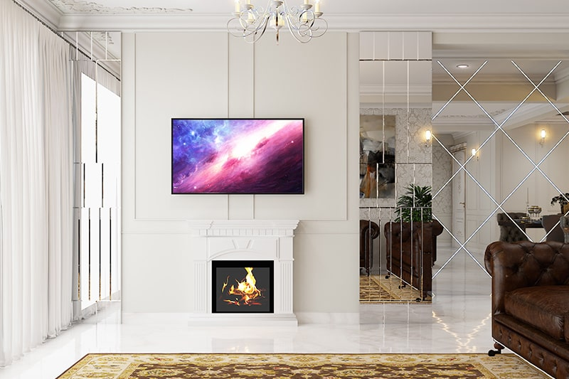 Modern wall decor ideas for living room by mounting your television on wall