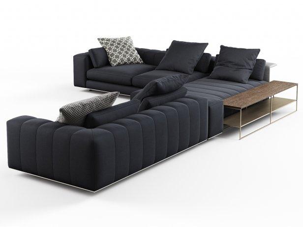 Freeman Corner Sofa System C 3d Model Minotti