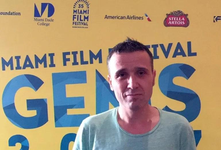 El director español Lino Escalera durante el estreno en Estados Unidos de su primer largometraje