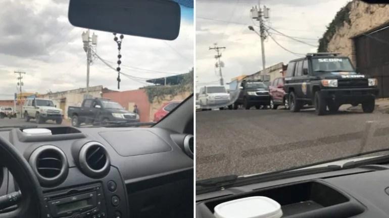 Unidades del SEBIN fueron fotografiadas cuando procedían al allanamiento de las viviendas de los sobrinos de la fiscal venezolana exiliadaLuisa Ortega Díaz.